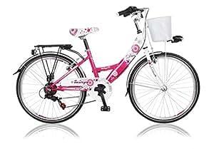 24 Zoll Cityrad Cityfahrrad Mädchenfahrrad Kinderfahrrad Citybike City Fahrrad 6 Gang Shimano STVO DIVA Violet mit KORB