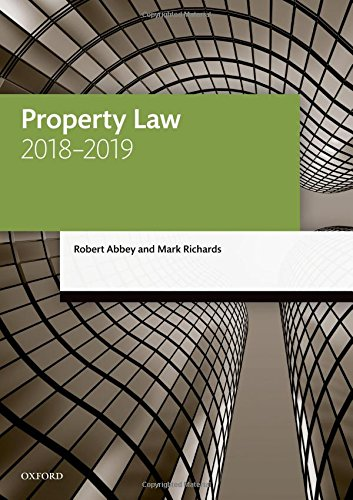 Property Law 2018-2019 (Legal Practice Course Manuals)