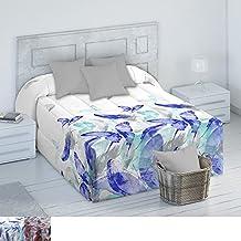 Edredón Conforter Modelo Colin, Color Azul, Medida Cama de 135