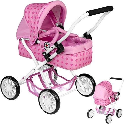 Preisvergleich Produktbild Mein erster Puppenwagen Smarty Sternchen (Rosa-Pink)