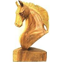 Dekofigur Pferd schwarz Wanddeko Pferdekopf Deko Skulptur Figur Statue