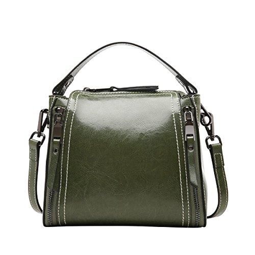 ZPFME Womens Handtasche Motorrad Tasche Wild Messenger Tragbar Umhängetasche Mini Damen Tasche Mädchen Party Retro Damen Mode Green