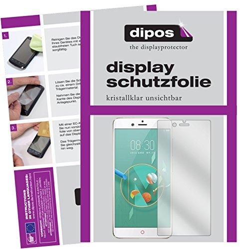 dipos I 6X Schutzfolie klar passend für ZTE Nubia Z17 Minis Folie Bildschirmschutzfolie