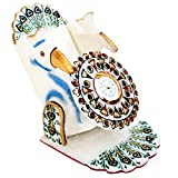 PEACOCK MARBLE CLOCK AND MOBILE HOLDER E...
