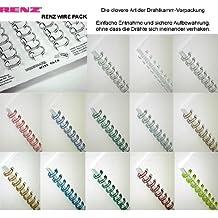 Renz Uno Pitch alambre peine elementos en 2 vinculante: 1 tono, 23 loops, diámetro de 9,5 mm, 3.8 pulgadas, oro / metálico