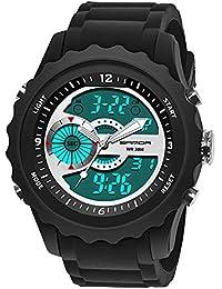 Reloj Deportivo de Doble Horario Multifunciones de Alarma, Fecha y Calentario, Tiempo Mundial Reloj