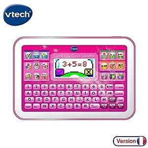 VTech - Tableta Little App para el Aprendizaje, Pantalla Color, Color Rosa, versión Francesa