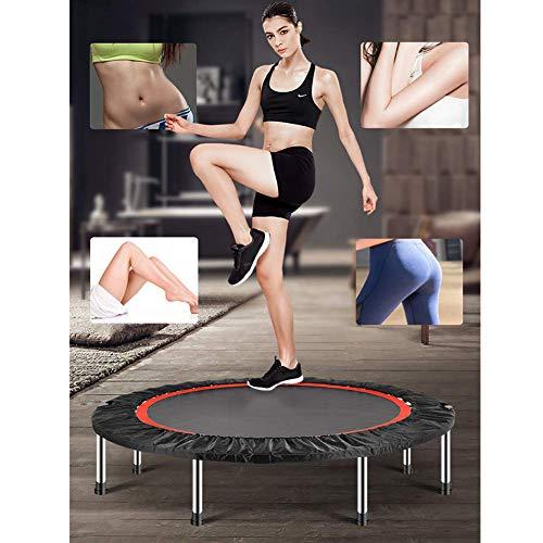 Fitness-Trampolin,leise Gummiseilfederung, Nutzergewicht bis 150kg, Trampolin für Jumping für Erwachsene oder Kinder mit Randabdeckung