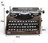 Global- stile europeo Ferro Materiale Classic Vintage Typewriter modello, battuto a mano ornamenti in ferro decorazioni Retro artigianato, artigianato vetrina decorativa ( Colore : #1 )