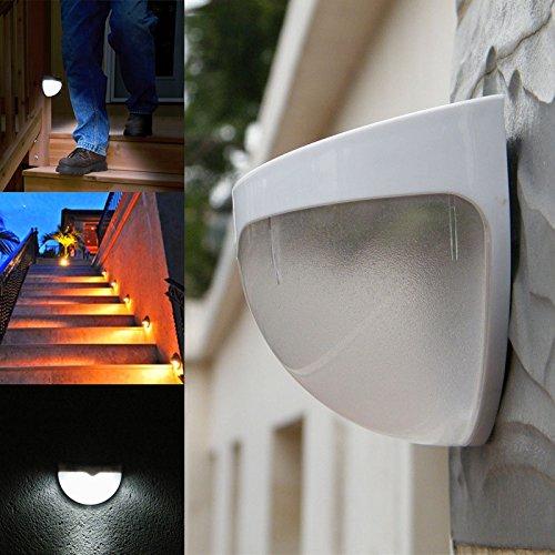 6-panel-massivholz (TIANLIANG04 2016 Led Solar Panel Lampe 6 Led-Sensor Wasserdicht Montiert Outdoor Zaun Gartenweg Wandleuchte Beleuchtung -- M25, Weiß, 0-5 W)