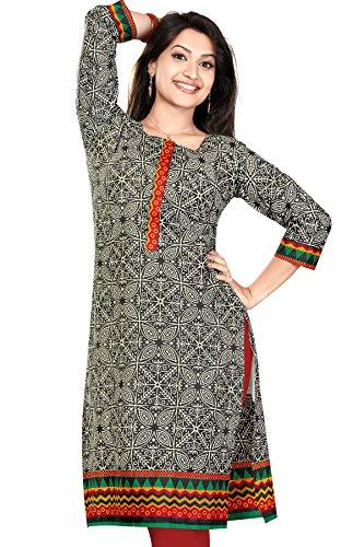 Long Anarkali Long Printed Embroidery Kurtis(Size