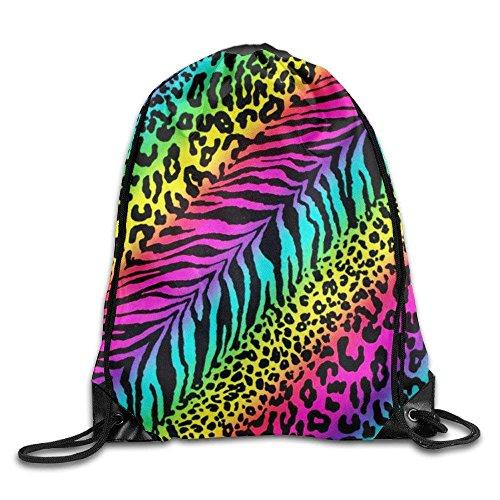 HIDFAA Kordelzug Bag Training Rainbow Animal Zebra Print Drawstring Backpack Bag - Zebra-print-kordelzug