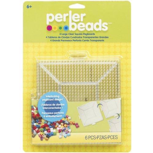 Perler Fused Bead Stecktafel, quadratisch, groß klar