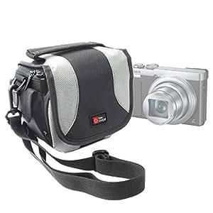 DURAGADGET Housse étui de transport pour Panasonic Lumix DMC-FT30, DMC-FZ70, DMC-TZ57 & DMC-SZ10 appareils photo numériques - avec bandoulière
