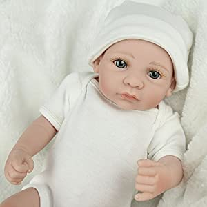 Kaydora Reborn Baby Dolls 10 Inch Full Body Vinyl Boy Newborn Baby Reborn Dolls Handmade Washable Bathe Partner Toy