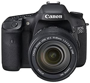 Canon EOS 7D SLR-Digitalkamera (18 Megapixel, 7,6 cm (3 Zoll) LCD-Display, Live-View, Full-HD Movie) Kit inkl. EF-S 18-135mm IS Lens schwarz