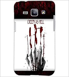 PrintDhaba Blood Hand D-4763 Back Case Cover for SAMSUNG GALAXY J1 (Multi-Coloured)