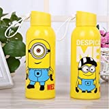 Orchid Minion Glass Water Bottle With Abs Coating 1 Piece Random Print