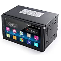 """Reproductor Multimedia para coche LESHP 7"""" Pantalla táctil 1024 x 600 HD Android 5.1 Quad Core 1.6GHZ Navegador GPS Radio estéreo doble din Universal para Coche WiFi / 3G / Bluetooth / Soporta 1080P Video/ Control de Volante / FM / USB / SD / AV-OUT / Cámara trasera 170°visión nocturna"""