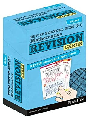 REVISE Edexcel GCSE (9-1) Mathematics Higher Revision Cards: includes FREE online Revision Guide (REVISE Edexcel GCSE Maths 2015) by Pearson Education