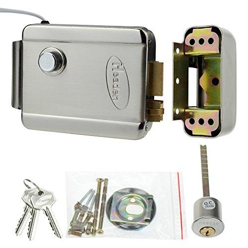 LIBO Zutrittskontrolle Elektrische Steuersperre Dedizierte elektronische Sperre DC 12V NC Typ Metall mit Schlüssel für Zugangskontrollsystem Kit -