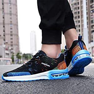 EUZeo Herren Komfortable Freizeit Fliegen stricken Laufschuhe Mesh Atmungsaktiv Turnschuhe Sommerschuhe Athletic Sport Sneakers Schuhe Straßenlaufschuhe Fitnessschuhe