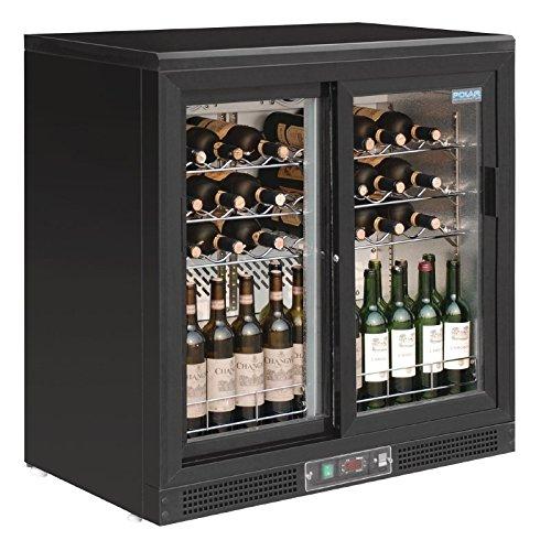 Polar Weinkühlung mit 2 Schiebetüren (Schiebetüren 2 Kühlschrank Mit)