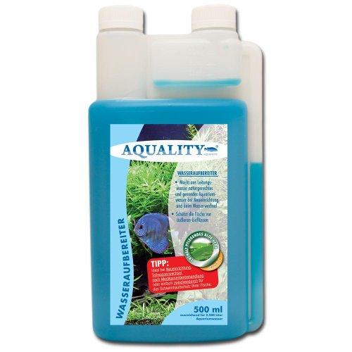 AQUALITY Wasseraufbereiter 500 ml (Aquarium Wasserpflege und Aufbereiter mit Aloe Vera + Vitamin B direkt vom Hersteller. Für den perfekten Wasserwechsel und bei Neueinrichtung)