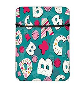 Snoogg Alphabets Butterfly 10 Inch Laptop Case Flip Sleeve Bag Computer Cover