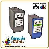 Cartouche Deal Lote de 2cartuchos genéricos Lexmark 34XL 35XL–para X8300Series X8310X8350X2500X4500X5400