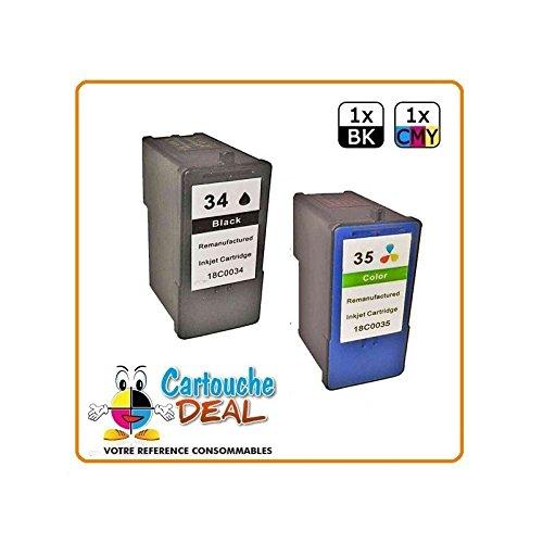 Cartouche Deal ® Lot 2 cartouches générique LEXMARK 34 XL 35 XL...
