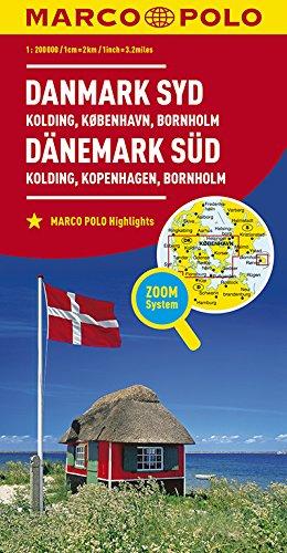 MARCO POLO Karte Dänemark Süd 1:200 000: Kolding, Kopenhagen, Bornholm