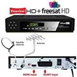 NEW iView HD COMBO FULL HD Freeview HD + Freesat HD Satellite Receiver Set Top Digi Box + 7 DAYS FULL EPG Advanced TV Program USB RECORDER , Digital Television Tuner SCART + HDMI Input . ( 3 in1 Compact ) Freeview & Satellite Terrestrial Free to Air Recei