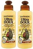 Garnier–Ultra morbido all' Olio di avvocato e burro di karite–Crema di cura SENZA RISCIACQUO capelli molto secchi o Ricci 200ml–Set di 2