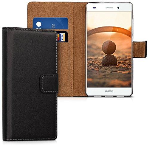 kwmobile Huawei P8 Lite (2015) Hülle - Kunstleder Wallet Case für Huawei P8 Lite (2015) mit Kartenfächern und Stand