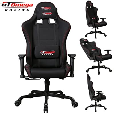 Gt Omega Pro Racing Office Chair Black Fabric