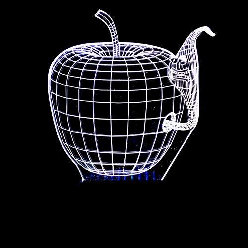Apple Bug Modell Optische Täuschung Lampe Led 3D Lampe Nachtlicht Acryl Atmosphäre Lampe 7 Farbe Moderne Lampe
