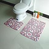#Wohnzimmer Teppich WC Zweiteilige U-Pad Anti-Rutsch-Absorptionsmatten Kissen Badezimmer Teppich Badezimmer Kissen Matten ( Farbe : H )