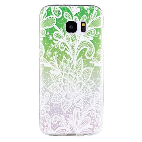 Galaxy S7 Edge Cas, Asnlove Coque TPU Silicone Doux Étui Texture de Transparente Crystal avec Housse Morbido Silicone Ultra Mince Cover Protection de Téléphone Anti-Rayures Antidérapant Case pour Sams Couleur - 6