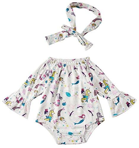 Chicolife Overall Strampler Mädchen Kleidung Outfits für Baby Mädchen Body Long Sleeve Pom Pom Strampler