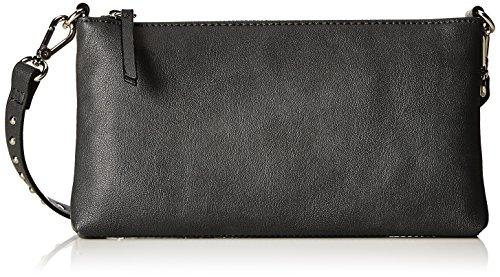 ESPRIT Damen 117ea1o045 Clutch, Schwarz (Black), 2,5x12,5x23 cm (Clutch Leder Tasche Schwarz)