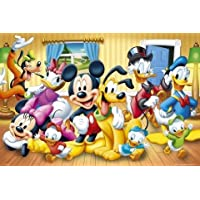 Maxi Poster featuring Everyone's Favourite Mouse; Mickey, and All His Friends in the Disney Playhouse, Colourful Animated Cartoon 91.5x61cm
