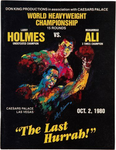 Larry Holmes vs Muhammad Ali reproduction boxing photo poster 40x30 cm