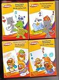 Playskool Crazy Eights, Go Fish. Match, & Spud Rummy Card Games 4-Pack