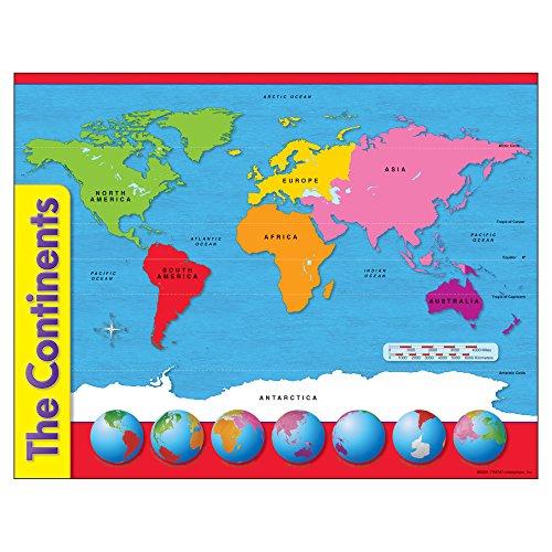 Preisvergleich Produktbild TREND ENTERPRISES INC T-38098 CHART den Kontinenten
