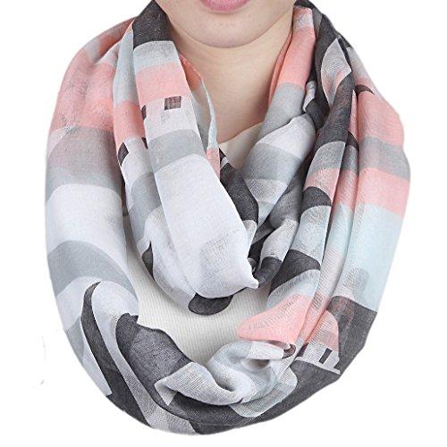 Schöner leichter Schal ~ Design Feder grau ~ Tuch Halstuch Accesoires
