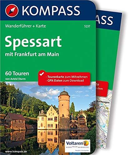 KOMPASS Wanderführer Spessart mit Frankfurt am Main: Wanderführer mit Extra-Tourenkarte 1:60.000, 60 Touren, GPX-Daten zum Download