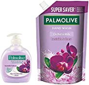 Palmolive Naturals Black Orchid & Milk Liquid Hand Wash - 250 ml Pump with Refill Pack - 75