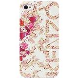 Coque Kenzo CHIARA blanche à motif fleuri rose pour iPhone 4