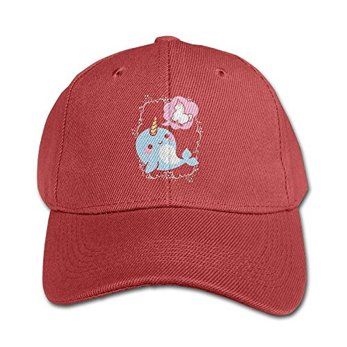 ERCGY Personality Caps Hats Narwhal Childhood Dreams Boy and Girls Black Baseball Cap Solid Color Hat